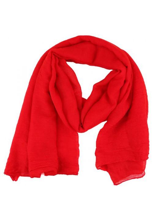 Foulard femme unis rouge