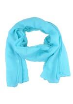 Foulard femme uni bleu clair