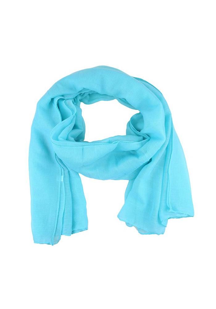 Foulard femme unis bleu clair
