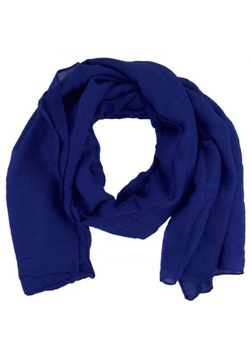 Foulard femme unis bleu électrique