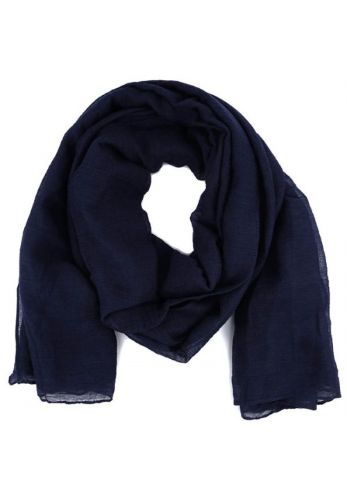 Foulard femme unis bleu marine