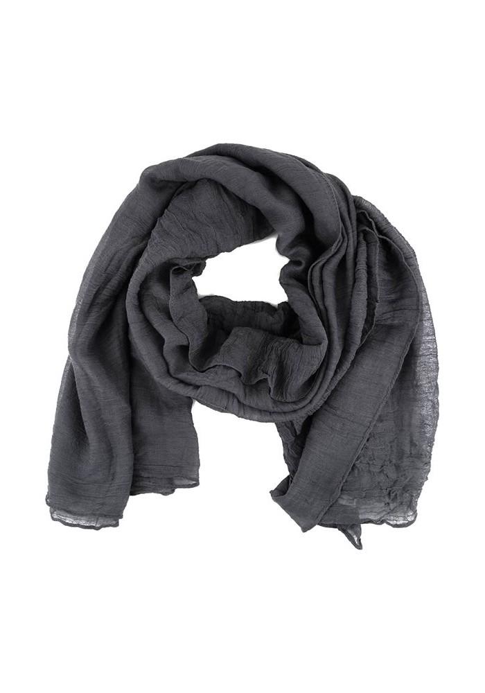 4b644f169d24 Foulard gris femme echarpe soie   Arts4a