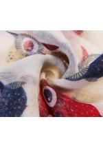 Foulard femme imprimé hiboux