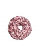 Snood femme tricoté rose