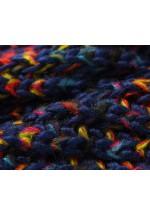 Snood femme tricoté navy