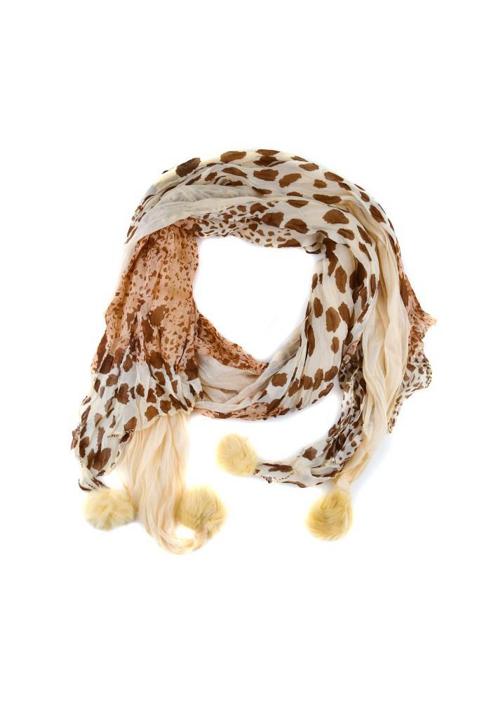 Foulard léopard Beige