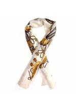 Foulard soie motif carrosse