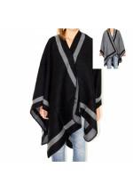Cape en laine réversible