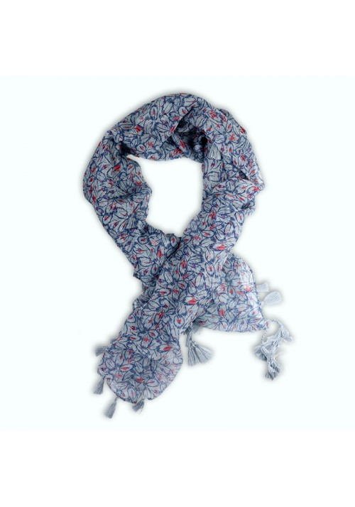 Foulard carré à franges