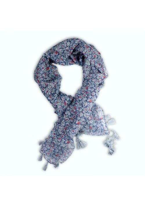 Foulard carré à franges