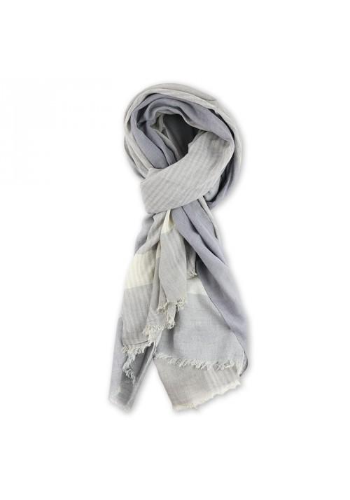 Foulard homme coton gris