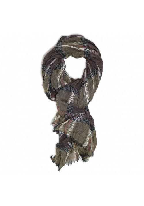 foulard homme marron